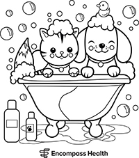 Cat and Dog Coloring Sheet Download