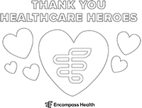 Thank You Healthcare Heroes Coloring Sheet Download