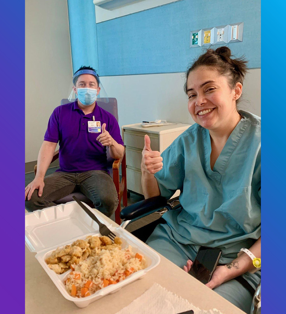 Candice Infante incorporates cooking in therapy